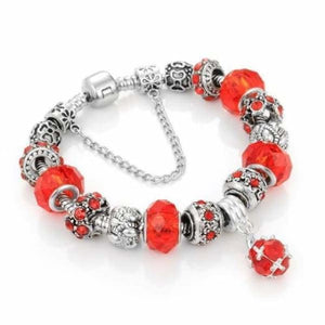 Crystal Charm Bracelet Collection - Red / 19cm