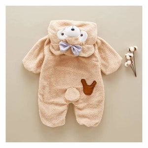 Cute Baby Bear Onesie - Rompers - Beige / 6M - cute-baby-bear-onesie