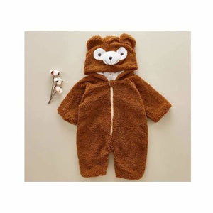 Cute Baby Bear Onesie - Rompers - Brown / 6M - cute-baby-bear-onesie