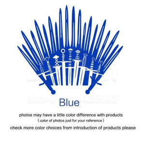 Decal Sticker Parody inspired by Game of Thrones - Blue / Small 28cm x 33cm