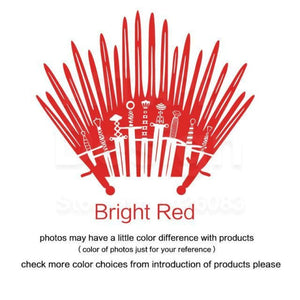 Decal Sticker Parody inspired by Game of Thrones - Bright Red / Small 28cm x 33cm