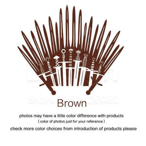 Decal Sticker Parody inspired by Game of Thrones - Brown / Small 28cm x 33cm