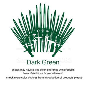 Decal Sticker Parody inspired by Game of Thrones - Dark Green / Small 28cm x 33cm