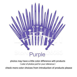 Decal Sticker Parody inspired by Game of Thrones - Purple / Small 28cm x 33cm