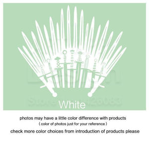 Decal Sticker Parody inspired by Game of Thrones - White / Small 28cm x 33cm