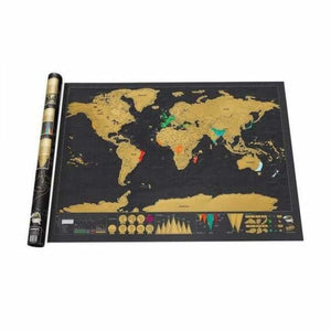 Deluxe World Scratch Map - Travel Map