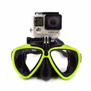 Diving Mask Camera Mount - Yellow - Sports Camcorder Cases