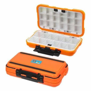Double sided waterproof fishing tackle lure box - fishing tackle boxes - l 30 grids orange - waterproof-double-sided-fishing-tackle-box