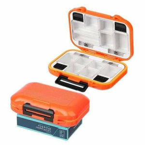 Double sided waterproof fishing tackle lure box - fishing tackle boxes - s 12 grids orange - waterproof-double-sided-fishing-tackle-box