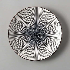 European Ceramics Plate - Dishes & Plates - Stripe SDisk - european-ceramics-plate