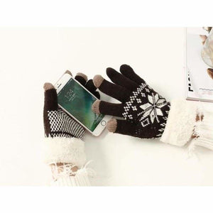 Extra-warm touchscreen Gloves - Mens Gloves - brown - extra-warm-fleece-touchscreen-gloves