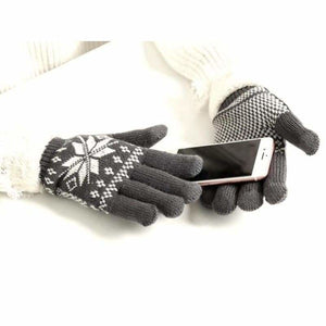 Extra-warm touchscreen Gloves - Mens Gloves - gray - extra-warm-fleece-touchscreen-gloves