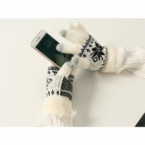 Extra-warm touchscreen Gloves - Mens Gloves - white - extra-warm-fleece-touchscreen-gloves