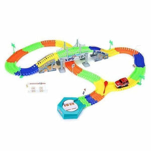 Fantastic Glowing Race Track - 192 pcs with car - Diecasts & Toy Vehicles