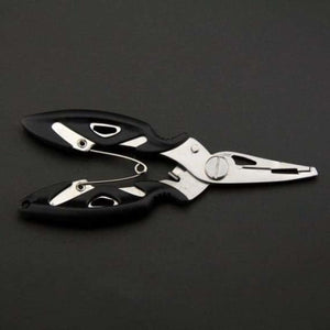 Fish Use Tongs Scissors Rope Piler - Fishing Tools - Black -