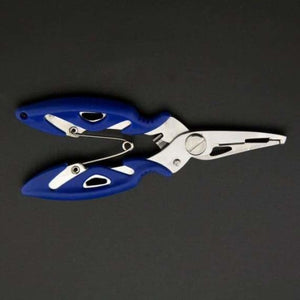 Fish Use Tongs Scissors Rope Piler - Fishing Tools - Blue -