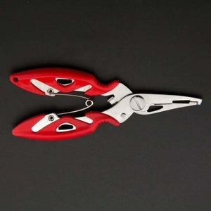 Fish Use Tongs Scissors Rope Piler - Fishing Tools - Red -