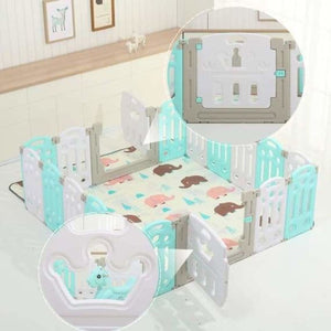 Foldable baby indoor/outdoor playpen - baby playpens - foldable-baby-indoor-playpen