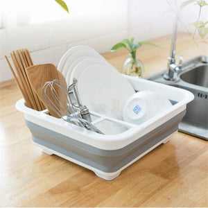 Foldable Cutting Board Washing Basket - Fold Sink Dish Rack - Chopping Blocks