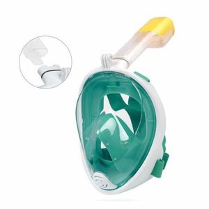 Full Face Snorkel Mask - Green - Diving Masks
