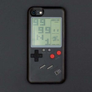 Gameboy iPhone Case - Black / For IP 6 6s - Half-wrapped Case