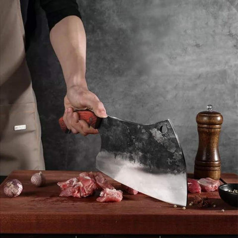 Handmade Forged Butcher Knife - Kitchen Knives