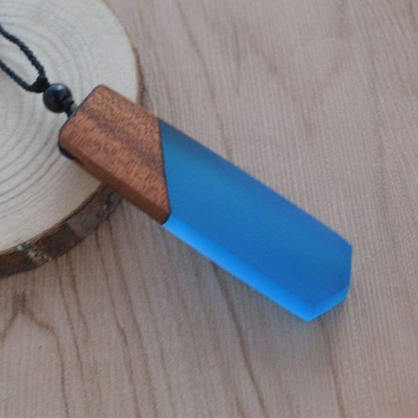 handmade wood resin necklace - Pendant Necklaces