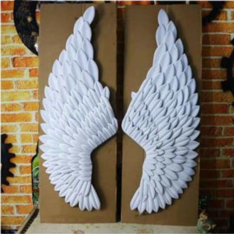 Hanging iron angel wing wall decoration - decorative boards - f - hanging-iron-angel-wing-wall-decoration
