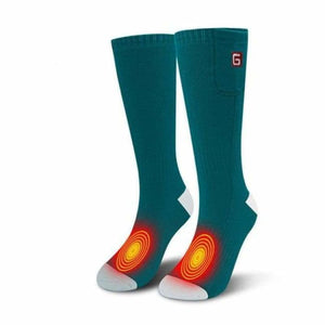 Heated Socks - Green/White - heated-socks