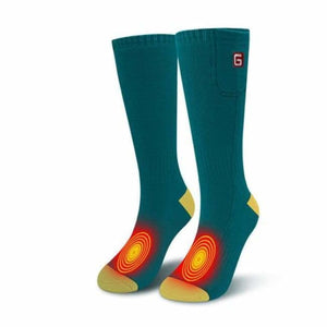 Heated Socks - Green/Yellow - heated-socks