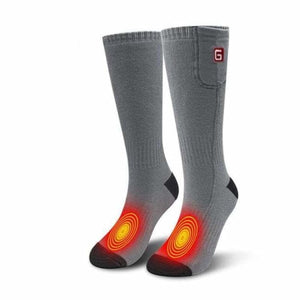 Heated Socks - Grey - heated-socks