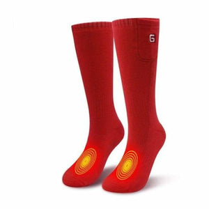Heated Socks - Red - heated-socks