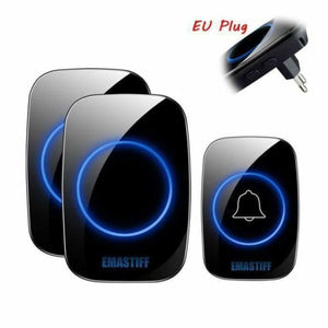Home Intelligent Wireless Doorbell - 1 Doorbell + 2 receiver / UK - Doorbell