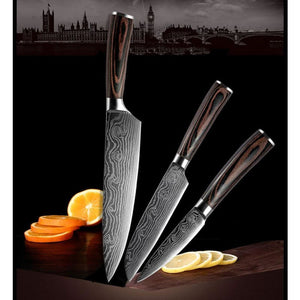 Japanese Chef Knife Set - Stainless Steel Blades - 3PCS - Knife Sets