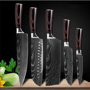 Japanese Chef Knife Set - Stainless Steel Blades - 5PCS - Knife Sets