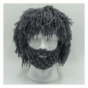 Knitted Face Beanie - Skullies & Beanies - Gray - knitted-face-beanie