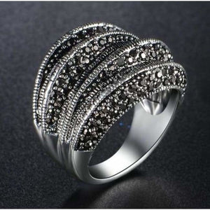 Large Pave Marcasite Ring