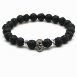 Lava Stones Skull Bracelet - hs as picture