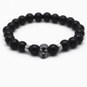 Lava Stones Skull Bracelet - lh as picture