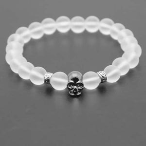 Lava Stones Skull Bracelet - mb as picture