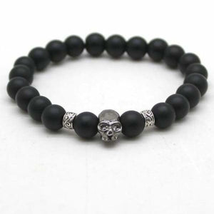 Lava Stones Skull Bracelet - mh as picture