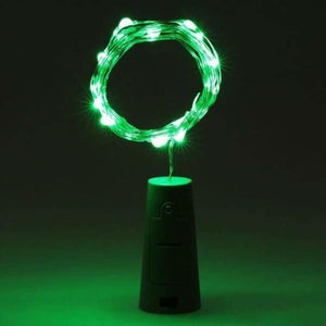 LED Bottle Lights - Green - Holiday Lighting
