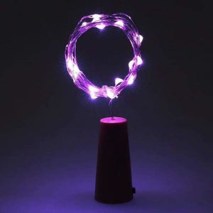 LED Bottle Lights - Purple - Holiday Lighting