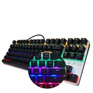 Led Mechanical keyboard English/Russian - Keyboards - Spanish 87 key / Black Switch - led-keyboard-english-russian