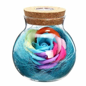 LED Rose Lamp in a Bottle - Blue - LED Bulbs & Tubes