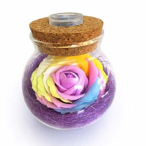 LED Rose Lamp in a Bottle - Purple - LED Bulbs & Tubes