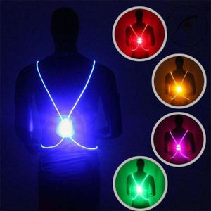 LED Safety Vest Jacket - Blue - Running Vests