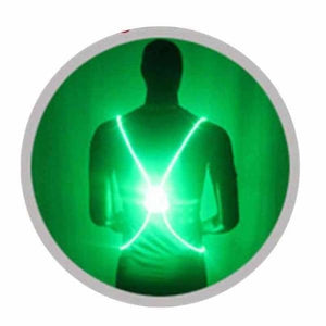 LED Safety Vest Jacket - Green - Running Vests
