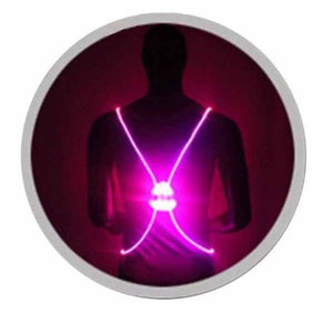 LED Safety Vest Jacket - Purple - Running Vests