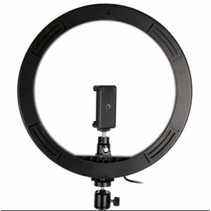 LED Selfie Ring Light with Tripod Stand - Photographic Lighting - Black -